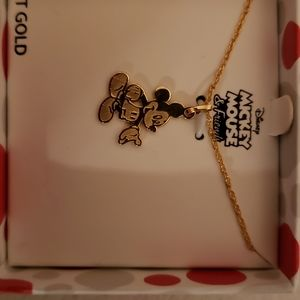10k New Mickey Mouse Necklace